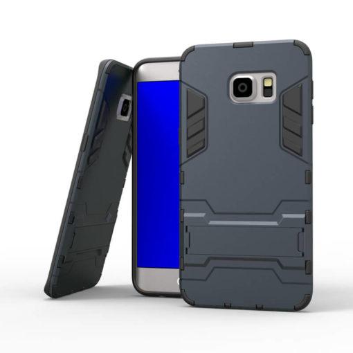 На картинке ударопрочный чехол Железный Человек на Samsung Galaxy S6 Edge (Iron Man), цвет черный.