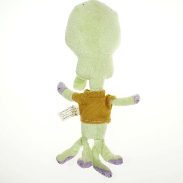 На картинке мягкая игрушка Сквидвард из Спанч Боба, вид сзади.