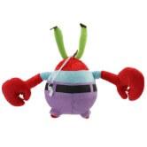 На картинке мягкая игрушка Мистер Крабс из Спанч Боба, вид сзади.