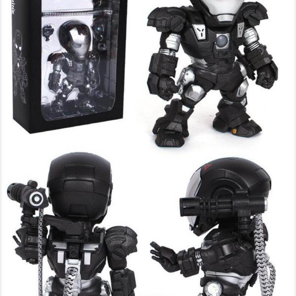 На картинке минифигурка Железный человек 3 Марк III (Iron Man), цвет черный.