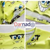 На картинке футболка со Спанч Бобом (Губка Боб), детали.