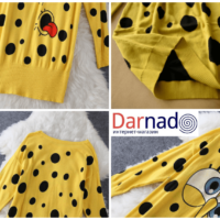 На картинке платье-свитер со Спанч Бобом (Губка Боб), детали.