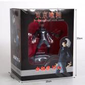 На картинке фигурка Кена Канеки «Токийский гуль» (Tokyo Ghoul), вид в упаковке.