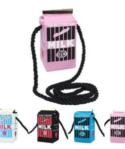 На картинке сумка в виде пакета молока (4 варианта).
