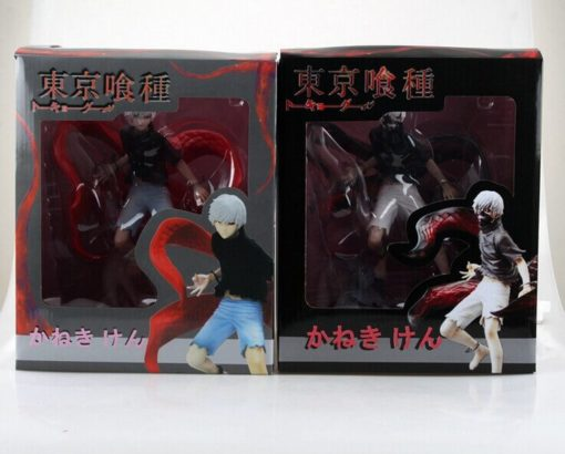 На картинке фигурка Канеки Кена из аниме Токийский гуль (Tokyo Ghoul) 2 варианта, вид в упаковке.