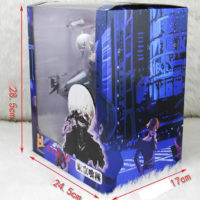 На картинке фигурка Канеки Кена «Токийский гуль» (Tokyo Ghoul), вид в упаковке.