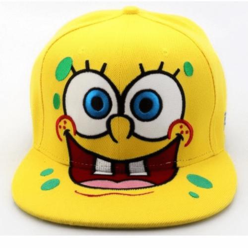 На картинке кепка-бейсболка со Спанч Бобом (Губка Боб) 3 варианта, вариант 1.