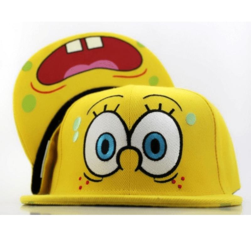 На картинке кепка-бейсболка со Спанч Бобом (Губка Боб) 3 варианта, вариант 2.
