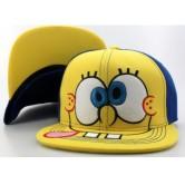 На картинке кепка-бейсболка со Спанч Бобом (Губка Боб) 3 варианта, вариант 3.