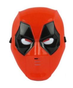 На картинке пластиковая маска Дедпула (Дедпул \ Deadpool), вид спереди.