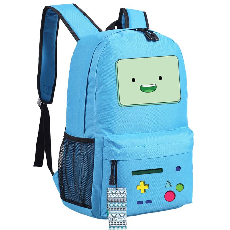 Аниме-приключения-время-вмо-Emoji-печать-школьные-сумки-для-подростков-рюкзаки-для-девочек-подростков-Mochila-Feminina