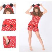 Пижама Минни Маус с ушками на капюшоне фото