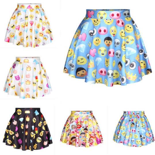 Лолита-стиль-женщины-emoji-юбки-женский-высокой-талией-женщина-плиссированные-юбки-harajuku-3D-emoji-печать-фигурист