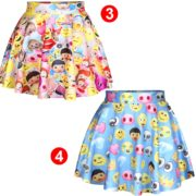 Лолита-стиль-женщины-emoji-юбки-женский-высокой-талией-женщина-плиссированные-юбки-harajuku-emoji-смайли-смайлик-saias