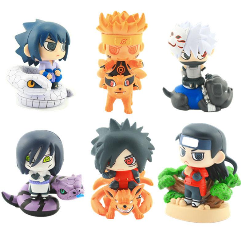 На картинке набор фигурок героев Наруто (Naruto) с питомцами (2 варианта), вариант 2.