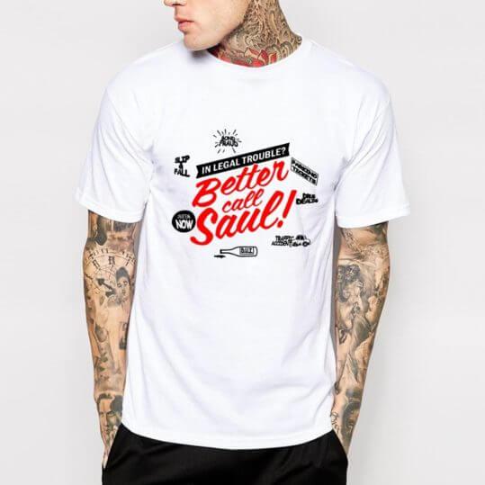 Сообщаем-футболки-мужчины-лучше-вызовов-саул-футболка-лос-POLLOS-HERMANOS-человек-футболка-о-шею-размер-евро