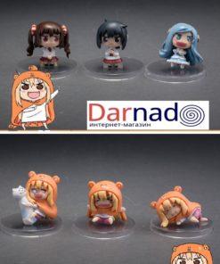На картинке набор фигурок Умару-чан и других героев аниме Двуличная сестренка Умару, вид спереди.