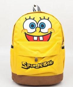 На картинке школьный рюкзак со Спанч Бобом (Губка Боб), вид спереди.