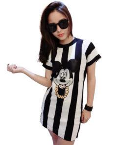 На картинке платье с Микки Маусом для девушек (женское), вид спереди.