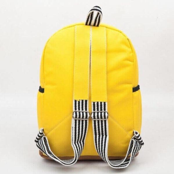 На картинке школьный рюкзак со Спанч Бобом (Губка Боб), вид сзади.