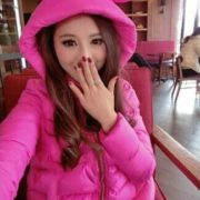 Ярко-розовая куртка с ушками фото