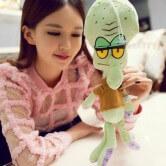 На картинке набор мягких игрушек из мультика Губка Боб (Спанч Боб), Сквидвард.