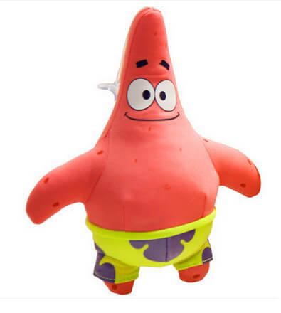 На картинке набор мягких игрушек из мультика Губка Боб (Спанч Боб), Патрик.