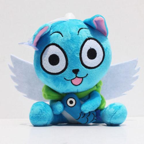 На картинке мягкая игрушка кот Хэппи (Хеппи) из Хвоста феи 15 см, вид спереди.