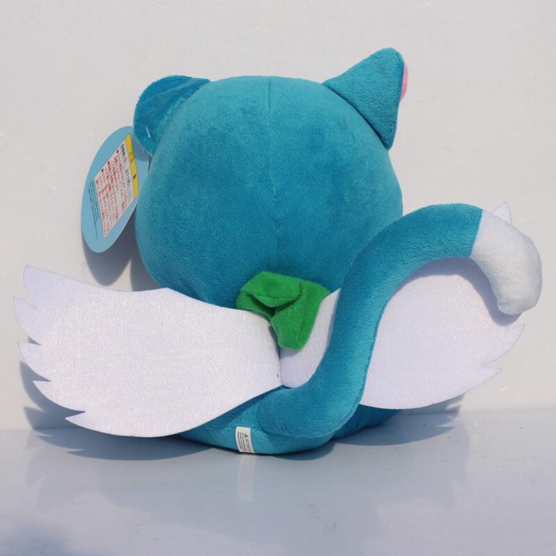 На картинке мягкая игрушка кот Хэппи (Хеппи) из Хвоста феи 15 см, вид сзади.