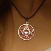Кулон Сейлор мун (Sailor moon) в виде броши фото