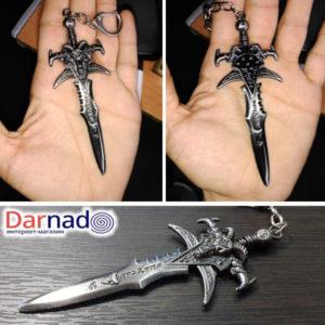 На картинке кулон Варкрафт в виде меча Ледяной скорби (World of Warcraft) WoW.