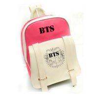 На картинке рюкзак Bangtan Boys (группа BTS), вид спереди, цвет красный.