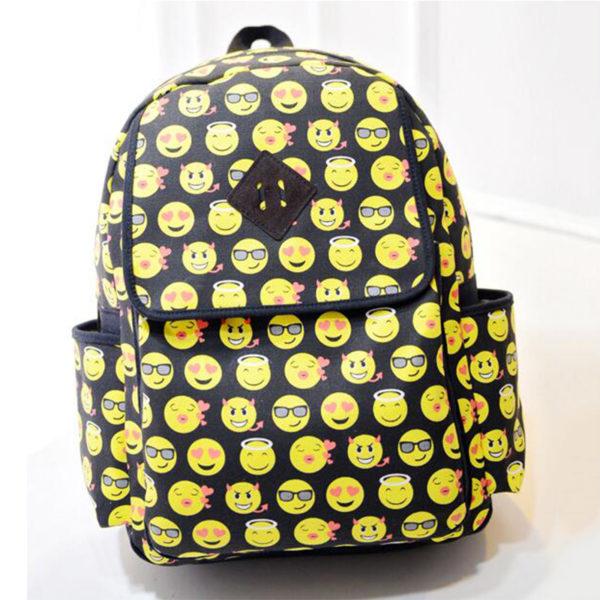 На картинке рюкзак «Смайлы», вид спереди.