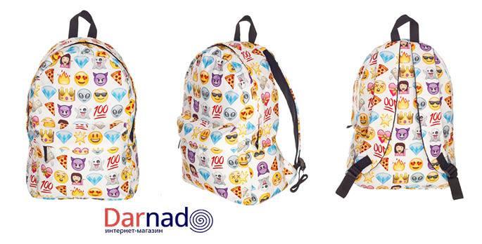 Белый рюкзак со смайликами рюкзак tatonka alpine teen cub