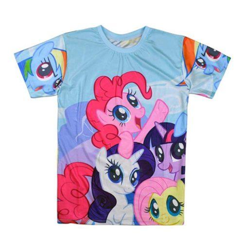 На картинке футболка женская Мой маленький пони (My little pony \ Дружба это чудо), вид спереди.