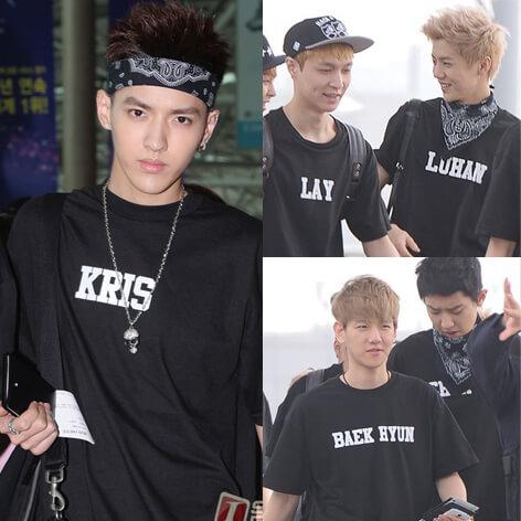 На картинке футболка Bangtan Boys (группа BTS), участники группы.