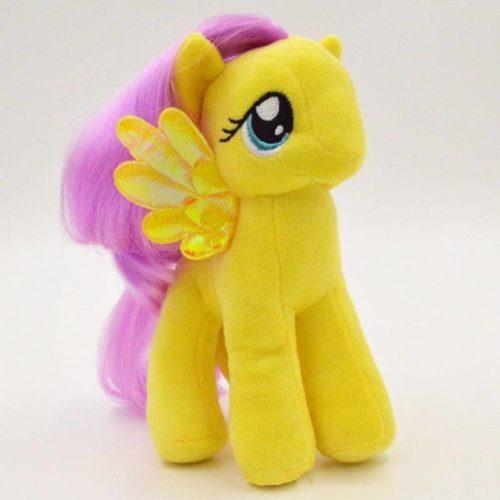 На картинке мягкая игрушка пони Флаттершай из Май Литл Пони (My little pony \ Дружба это чудо), общий вид.