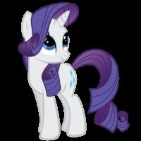 На картинке мягкая игрушка пони Рарити из Май Литл Пони (My little pony \ Дружба это чудо), промо к сериалу.