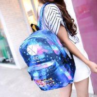На картинке рюкзак Exo planet с принтом космос, общий вид.