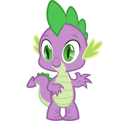 На картинке мягкая игрушка дракончик Спайк из Май Литл Пони (My little pony \ Дружба это чудо), промо к сериалу.