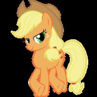 На картинке мягкая игрушка пони Эпплджек из Май Литл Пони (My little pony \ Дружба это чудо), промо к сериалу.