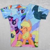 На картинке футболка женская Мой маленький пони (My little pony \ Дружба это чудо), вид сзади.