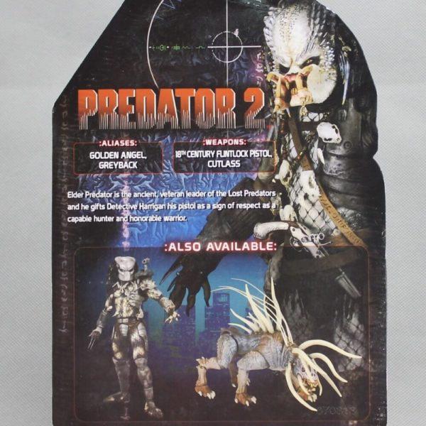 На картинке коллекционная фигурка Хищник 2 Старейшина (Predator neca \ Нека), упаковка.