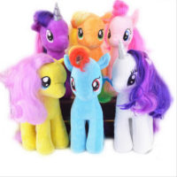 На картинке мягкие игрушки из Май Литл Пони (My little pony \ Дружба это чудо), 6 вариантов.