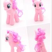 На картинке мягкая игрушка пони Пинки Пай из Май Литл Пони (My little pony \ Дружба это чудо), вид с разных сторон.