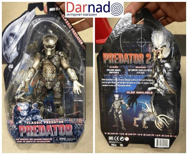 На картинке фигурка Хищник классический — Predator classic, упаковка.