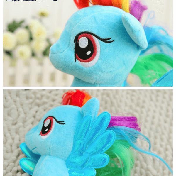 На картинке мягкая игрушка пони Рейнбоу Дэш из Май Литл Пони (My little pony \ Дружба это чудо), детали.