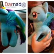 Мягкая игрушка пони Рейнбоу Дэш из Май Литл Пони (My little pony \ Дружба это чудо) фото