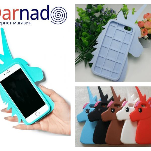 На картинке чехол на телефон Единорог iPhone (Айфон) 5-5S-6-6s, 7 вариантов.