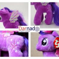 На картинке мягкая игрушка пони Сумеречная Искорка с крыльями из Май Литл Пони (My little pony \ Дружба это чудо), детали.